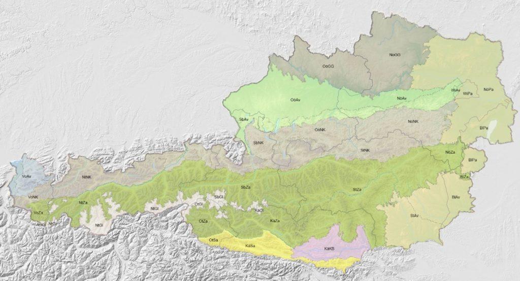 Biogeographische Regionen Österreich
